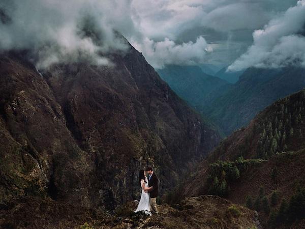 ảnh cưới tại Himalaya của Nepal