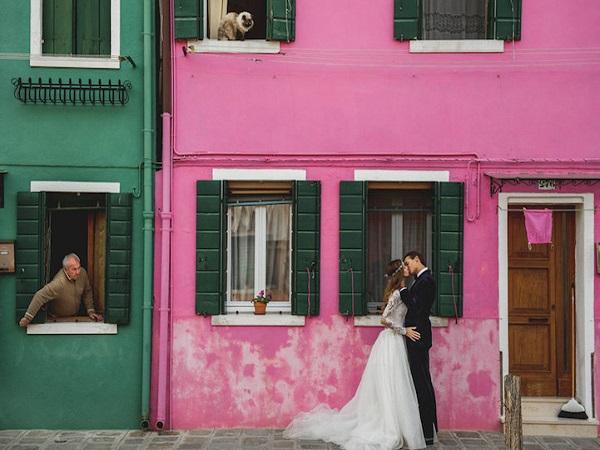 ảnh cưới ở Venice Italia