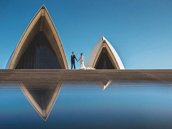 ảnh cưới đối xứng tại Sydney-Úc