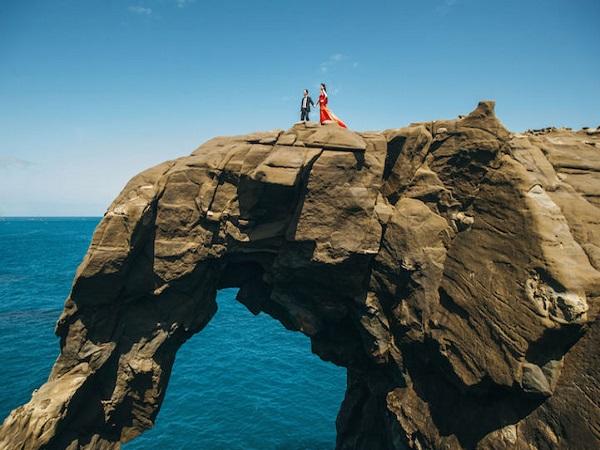 ảnh cưới tại vùng biển Đài Loan