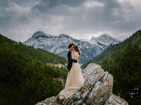 ảnh cưới tại công viên quốc gia Waterton Lakes, Canada