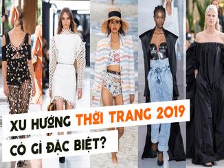 xu hướng thời trang 2019