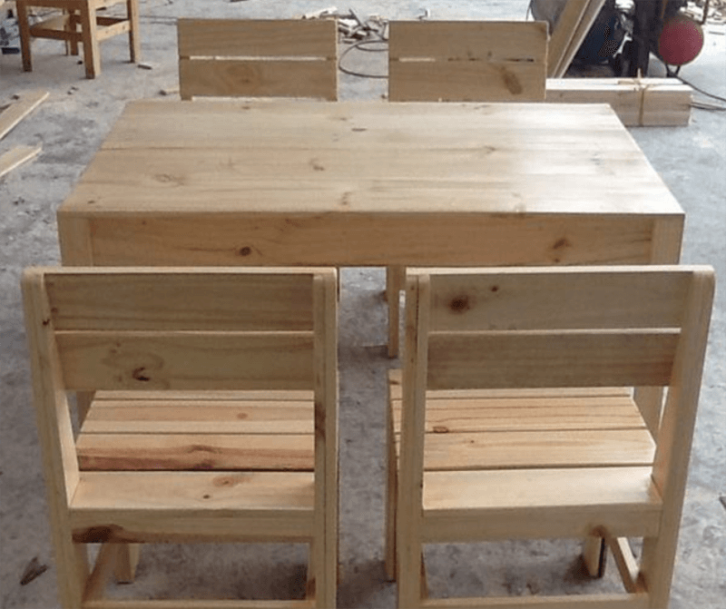 Chân ghế gỗ pallet