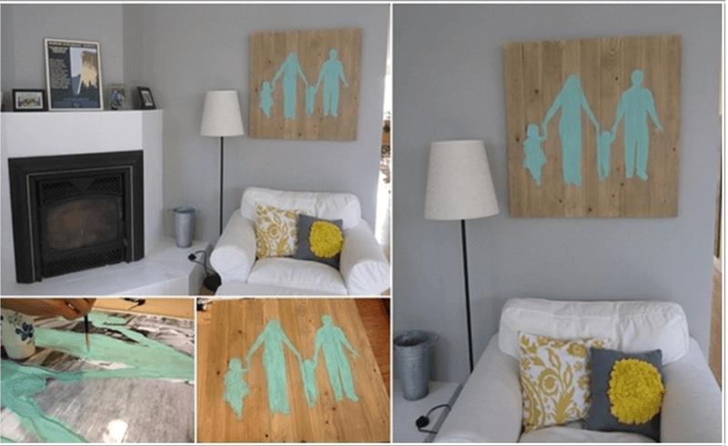 Sử dụng sơn để tạo ra các bức tranh trên tấm gỗ pallet