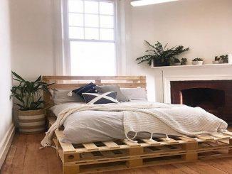 Làm giường bằng gỗ pallet