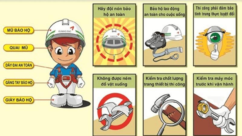 Cần phải trang bị các thiết bị bảo hộ để đảm bảo an toàn lao động