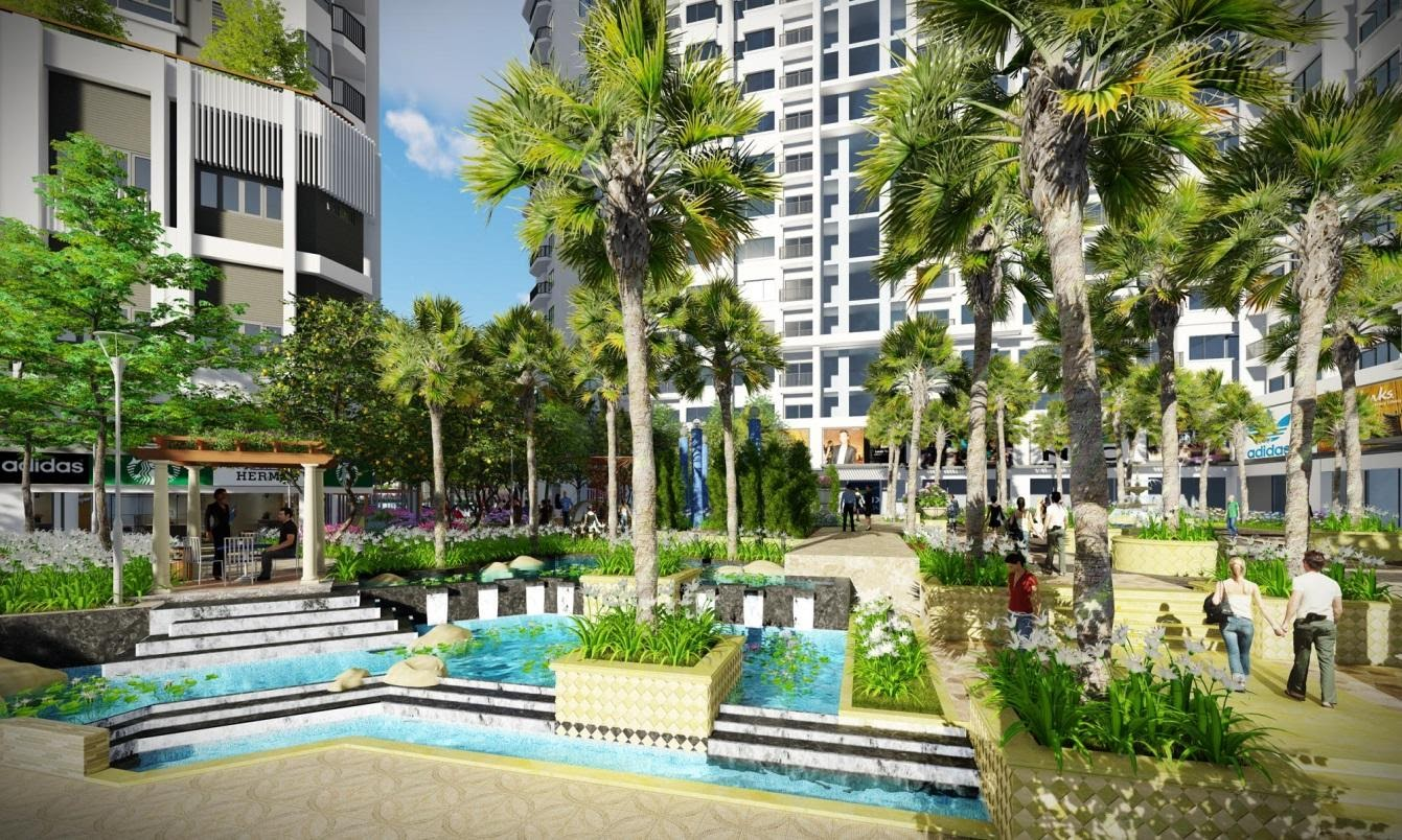 Khuôn viên xanh, mát lành của Monarchy Đà Nẵng