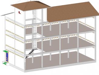 Bản vẽ 3d công trình nhà yến